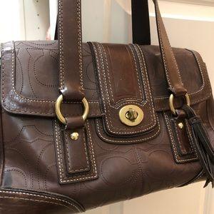 Vintage Coach Satchel - Dark Brown Leather